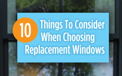 What to Consider When Choosing Replacement Windows?
